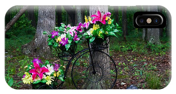 Crossville iPhone X Case - Floral Bicycle On A Cloudy Day by Douglas Barnett