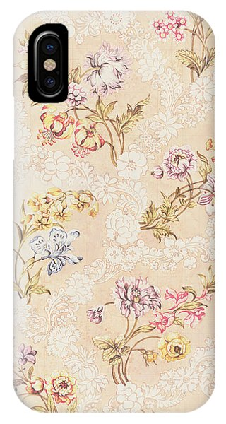 Repeat iPhone Case - Floral Design With Peonies Lilies And Roses by Anna Maria Garthwaite