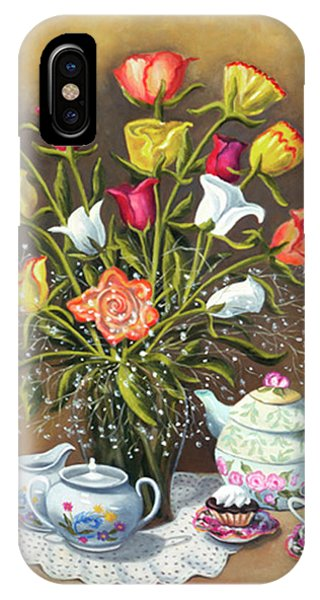 Floral With China And Ceramics IPhone Case