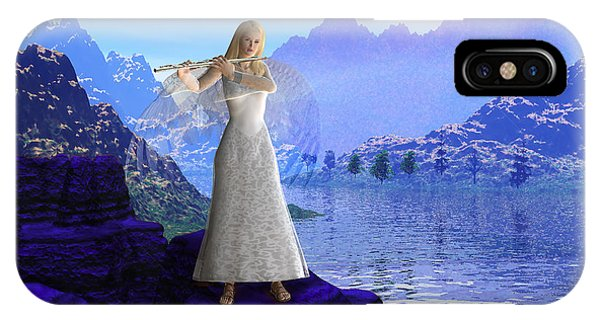 Flute Angel 2 IPhone Case
