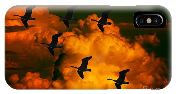 Flying High In The Sky IPhone Case