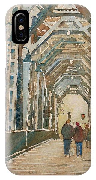 Trestle iPhone Case - Foggy Morning On The Railway Bridge One by Jenny Armitage