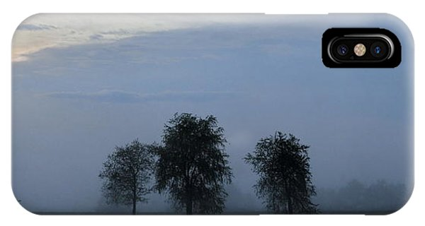 Foggy Pennsylvania Treeline IPhone Case