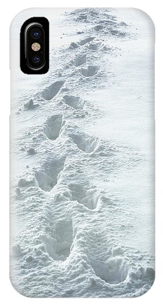 Footsteps In The Snow IPhone Case