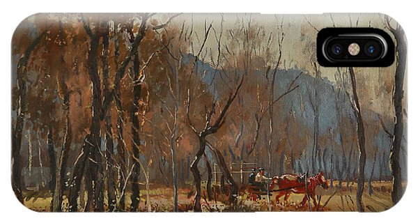 Cart iPhone Case - Forest By Shkumbini River  by Ylli Haruni