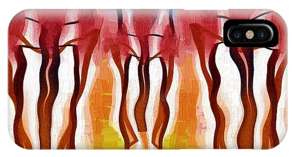 Treeline iPhone Case - Forest Fires by Alec Drake