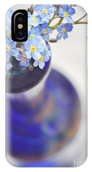 Forget Me Nots In Deep Blue Vase IPhone Case