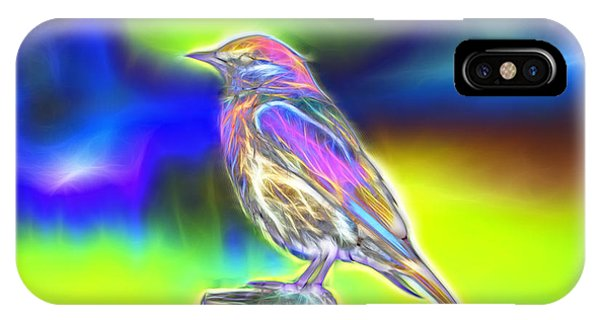 Fractal - Colorful - Western Bluebird IPhone Case