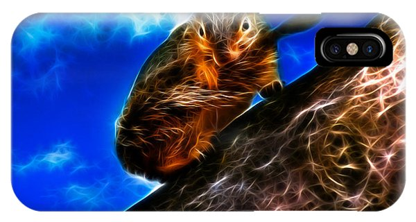 Fractal - How Do You Like My Mustache - Robbie The Squirrel IPhone Case