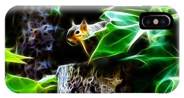 Fractal - Peek A Boo II - Robbie The Squirrel - 8242 IPhone Case