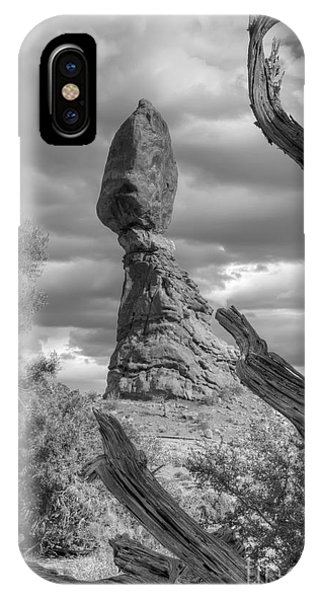 Framed Balance Rock Bw IPhone Case