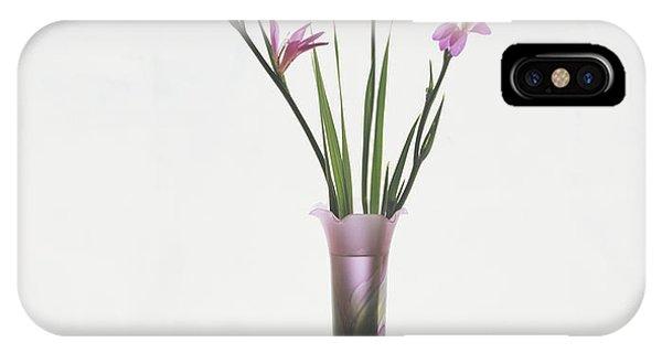 Freesias In Vase IPhone Case
