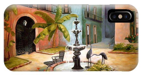French Quarter Fountain IPhone Case