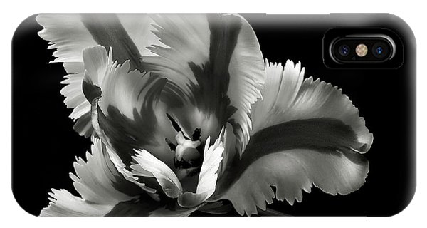 French Tulip In Black And White IPhone Case