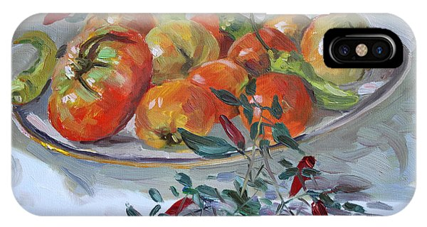 Tomato iPhone Case - Fresh From The Garden by Ylli Haruni
