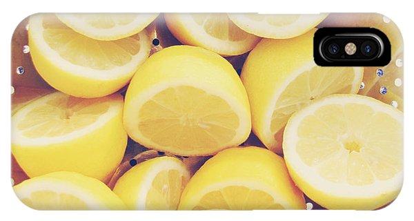 Lemon iPhone Case - Fresh Lemons by Amy Tyler