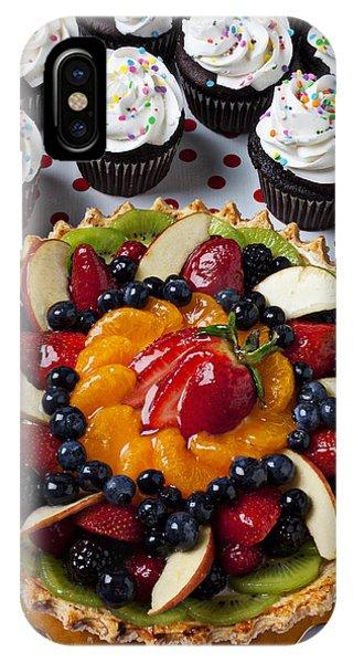 Fruit Tart Pie And Cupcakes  IPhone Case