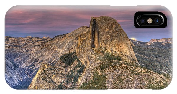 Full Moon Rise Behind Half Dome IPhone Case