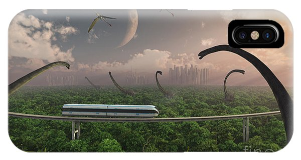 Beam iPhone Case - Futuristic Concept Of A Monorail Ride by Mark Stevenson