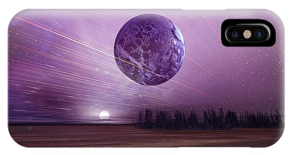 Beam iPhone Case - Futuristic Landscape by Carol and Mike Werner