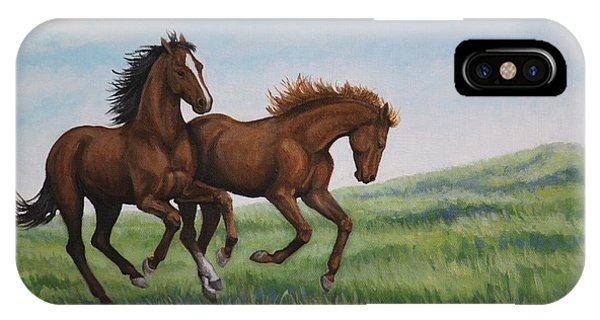 Galloping Horses IPhone Case