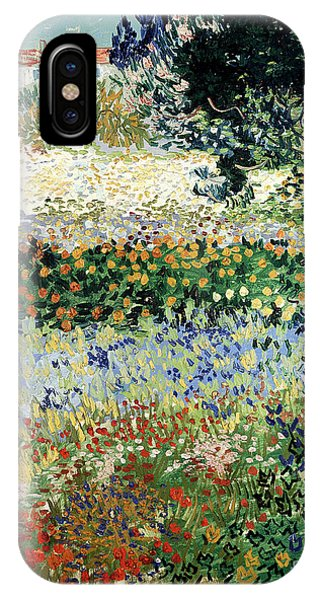 Garden iPhone X Case - Garden In Bloom by Vincent Van Gogh