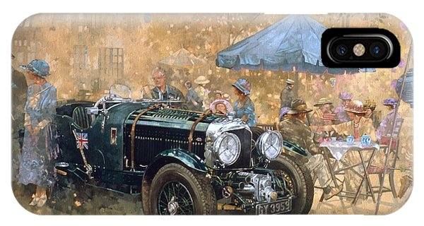 Car iPhone X Case - Garden Party With The Bentley by Peter Miller