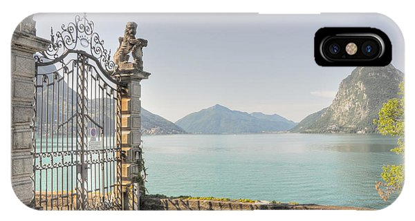 Gate On The Lake Front IPhone Case