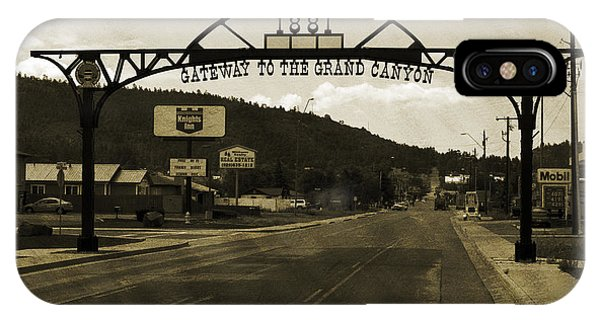 Street Sign iPhone Case - Gateway To The Grand Canyon by Ricky Barnard