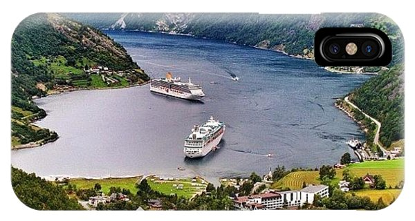 Travel iPhone Case - Geiranger Fjord by Luisa Azzolini