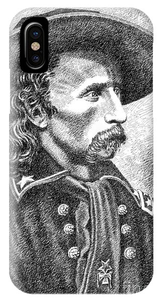 Pen And Ink Drawings For Sale iPhone Case - General Custer by Gordon Punt