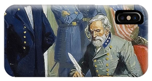 General Ulysses Grant Accepting The Surrender Of General Lee At Appomattox  IPhone Case