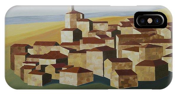 Cubist Village Spain IPhone Case
