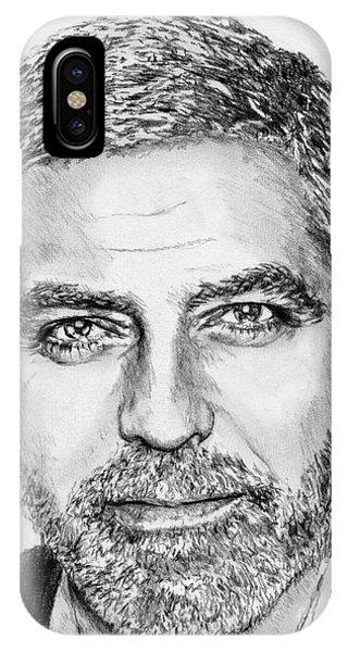 iPhone Case - George Clooney In 2009 by J McCombie