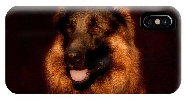 German Shepherd Portrait IPhone Case