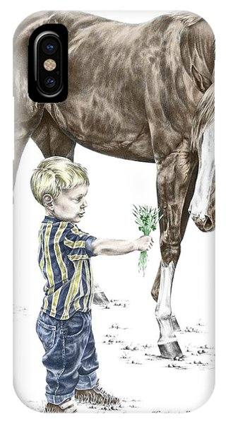 Getting To Know You - Boy And Horse Print Color Tinted IPhone Case
