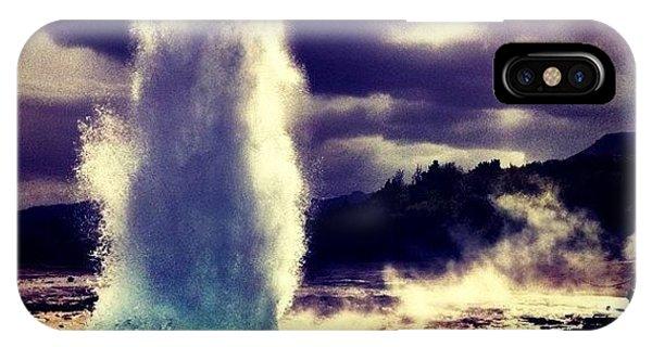 Travel iPhone Case - Geysir by Luke Kingma