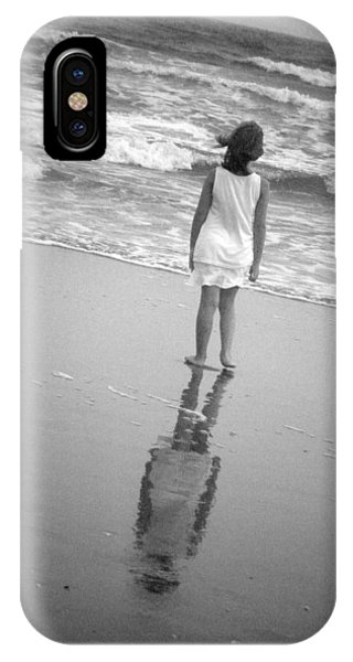 IPhone Case featuring the photograph Girl By Ocean by Kelly Hazel