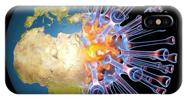 Global Flu Pandemic, Artwork Phone Case by Pasieka