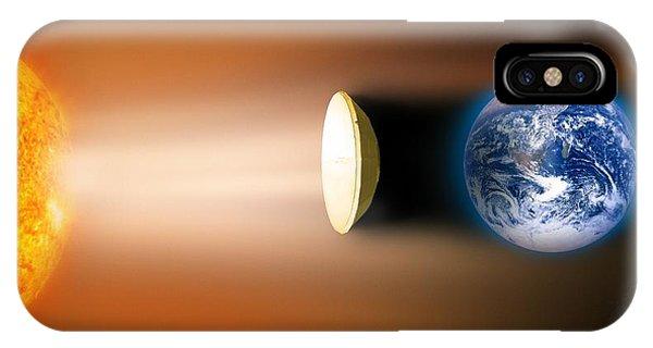 Global Warming Sun Shield, Artwork Phone Case by Victor De Schwanberg