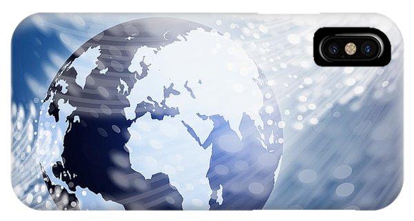 Globe With Fiber Optics IPhone Case