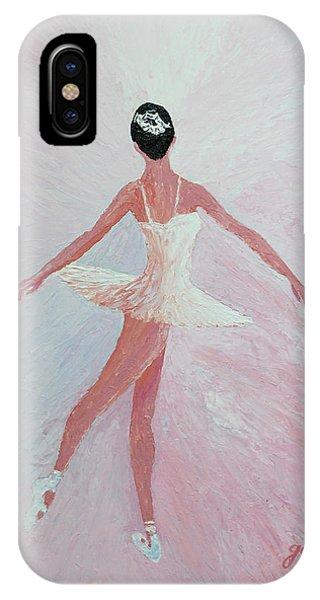 Glowing Ballerina Original Palette Knife  IPhone Case