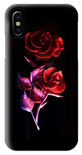 Glowing Glass Rose IPhone Case
