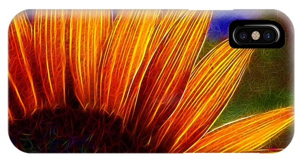 Glowing Sunflower IPhone Case