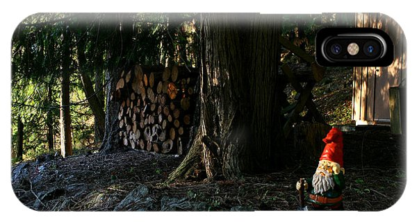 Gnome And The Woodpile IPhone Case
