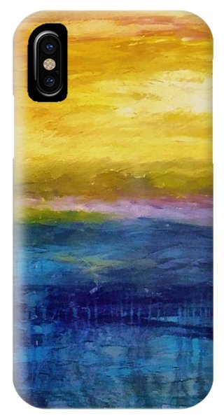 Gold And Pink Sunset Ll IPhone Case