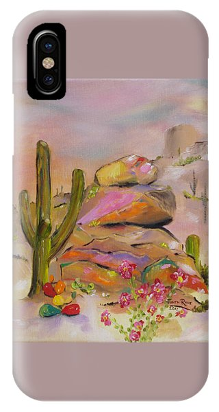 Gold-lined Rocks IPhone Case