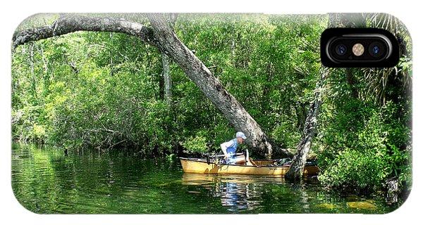 Golden Canoe Launch IPhone Case