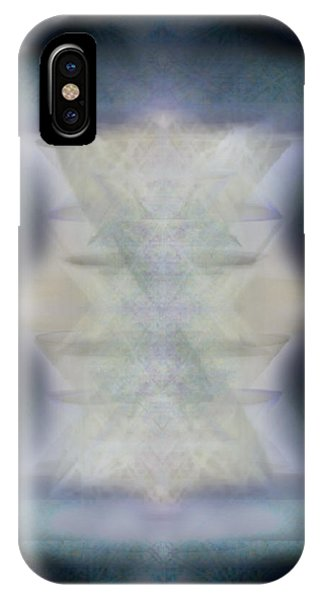 Golden Light Chalices Emerging From Blue Vortex Myst IPhone Case