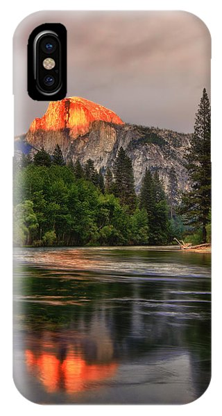 Golden Light On Halfdome IPhone Case